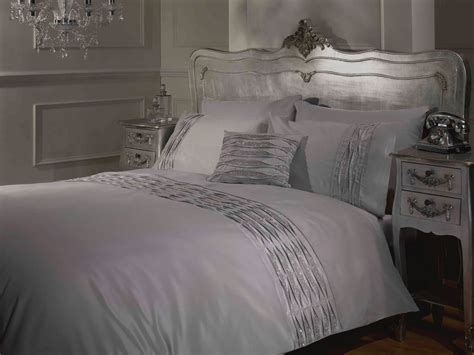 white and silver bedding crystal diamante detail duvet quilt cover bed sets white silver black 4 sizes ebay