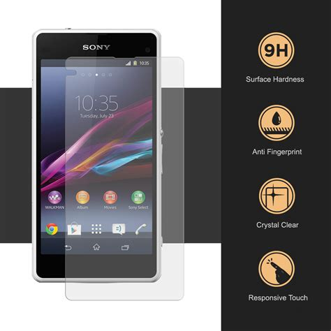 Tempered Glass Xperia Z1 Compact T0210 aerios tempered glass screen protector sony xperia z1