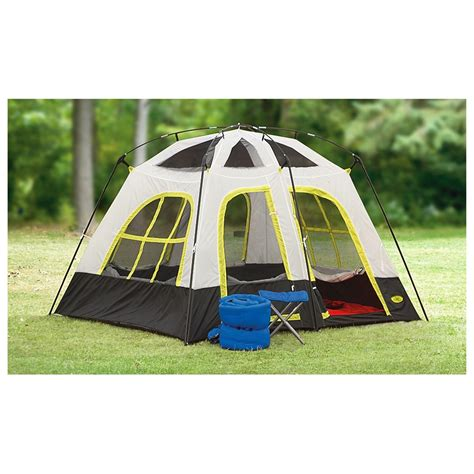 2 room cabin tent texsport 174 lazy river 2 room cabin tent gray black yellow 232440 cabin tents at
