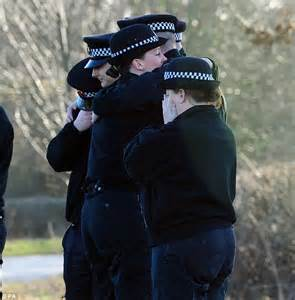 comfort officer grief stricken colleagues of police officer killed