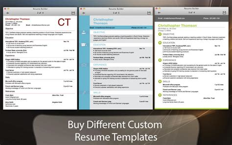 Resume App Store Resume Builder On The Mac App Store