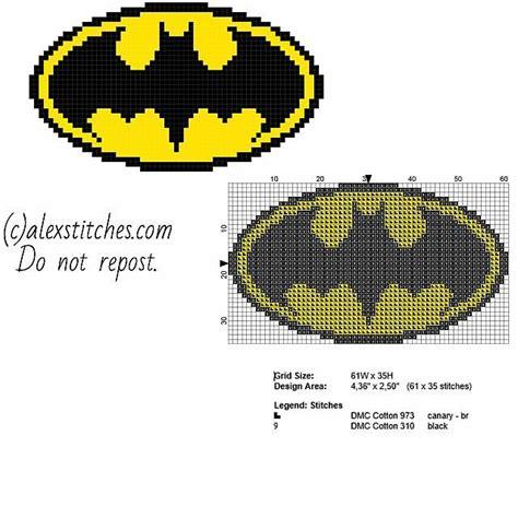 cross stitch pattern superman logo superhero batman original logo free cross stitch pattern