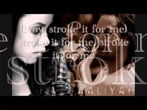 aaliyah rock the boat az lyrics aaliyah rock the boat lyrics on screen youtube