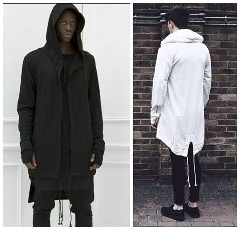 White Sweater S White Jaket Jaket Hoodie Korea 1 mens big and clothing hip hop hooded jacket owens black white side extended longline hoodie