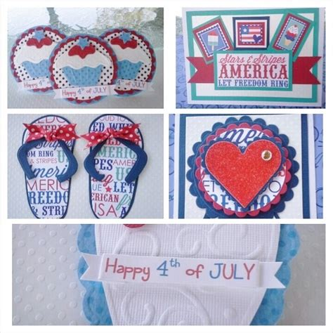 4th of july cards to make 4th of july scrapbook embellishments and cards handmade by
