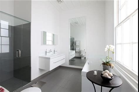 white bathroom grey floor 17 best images about bathroom on pinterest heated towel