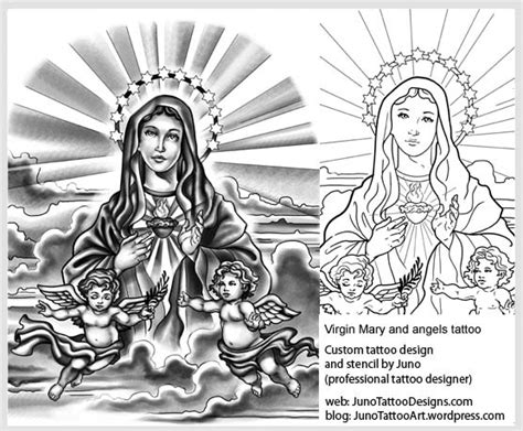 virgin mary tattoo arm tattoo template cherubs tattoo