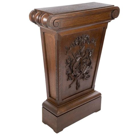 Pedestals For Sale Carved Wood Pedestal Stand For Sale At 1stdibs