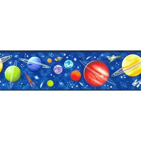 Print Wall Murals discount wallcovering space galaxy border cpv134