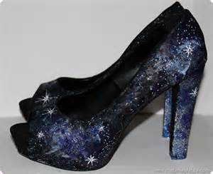 Painting Faux Leather Shoes - painting diy galaxy print fashion