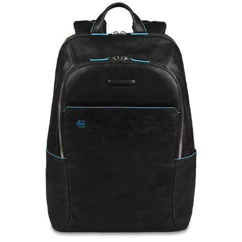 borse porta pc in pelle zaino piquadro porta pc in pelle blue square nero ca3214b2 n