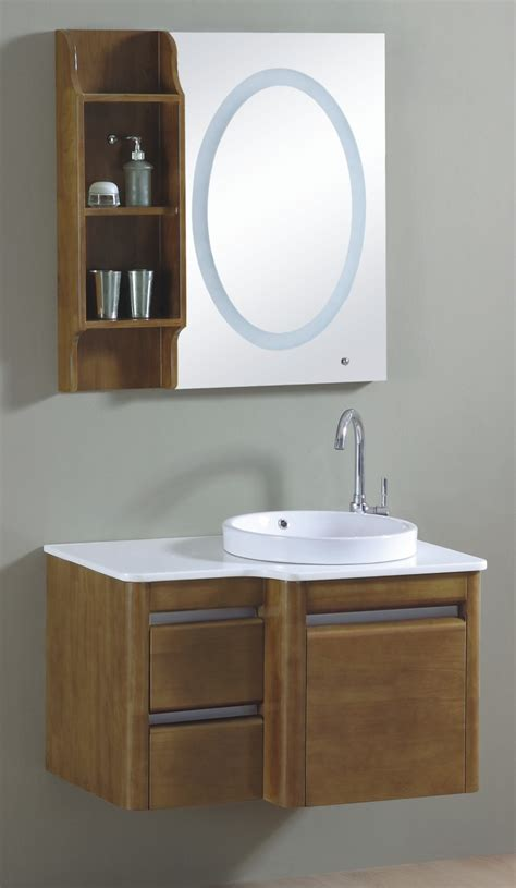bathroom design single sink wall mounted wooden bathroom