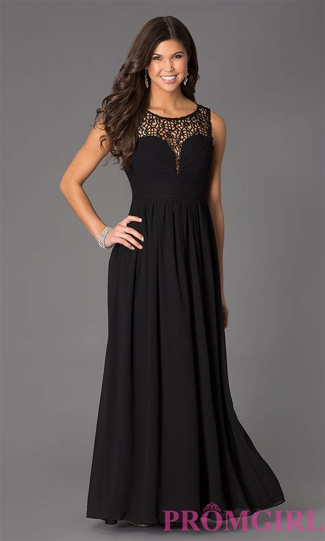 sleeveless floor length lace gown