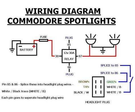 how to wire spotlights into high beam diagrams 46 wiring