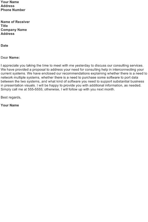 follow up letter sample download free business letter