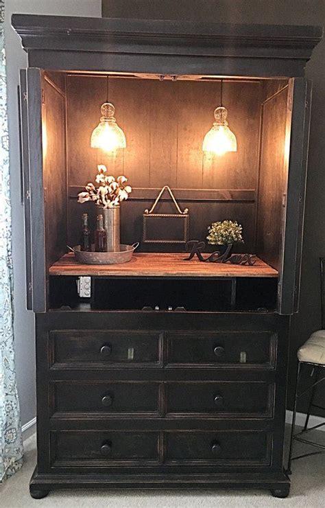 sold wine bar cabinet armiore  distressed black dresser