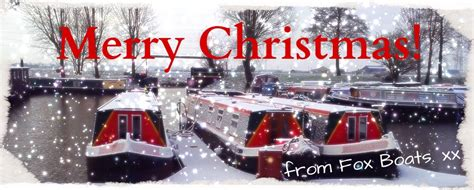 fox narrowboats merry christmas from fox boats - Boat Us Foundation Christmas Cards