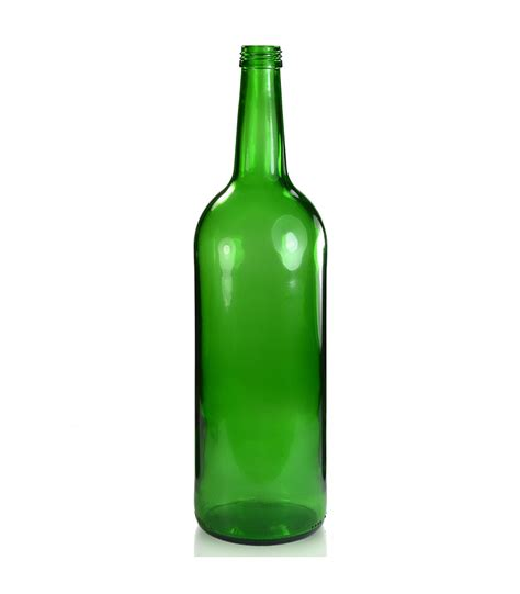 1 litre green glass carbonated drinks bottle