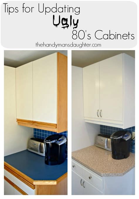 can you paint melamine cabinets tips for updating 80 s kitchen cabinets the handyman s