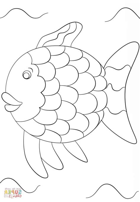 Rainbow Fish Outline Page by Fish Outline Coloring Page Printable Coloring