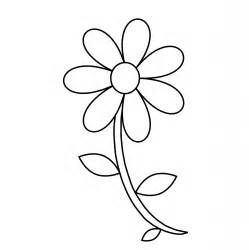 Flowers Drawings Outlines by Flower Outline Coloring Page Free Stock Photo