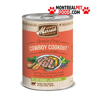 merrick canned food merrick canned food cowboy cookout montreal pet food