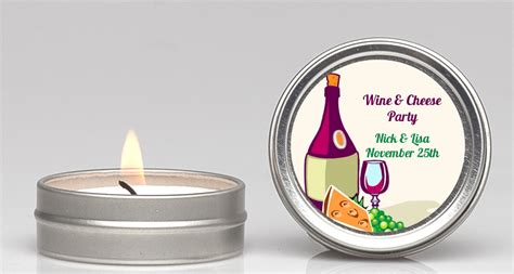wine cheese bridal shower favors wine cheese candle favors candles favors