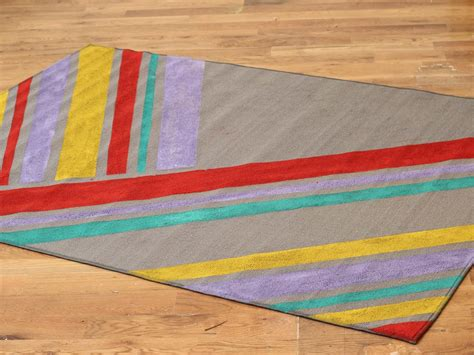 Colorful Outdoor Rug How To Paint Colorful Stripes On A Rug Hgtv