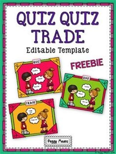 Quiz Quiz Trade Card Template by Grade Kagan On Quizes Cooperative