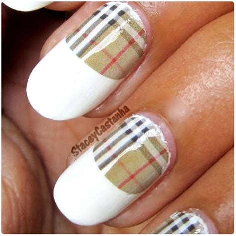 tutorial nail art burberry burberry nails nail art gallery