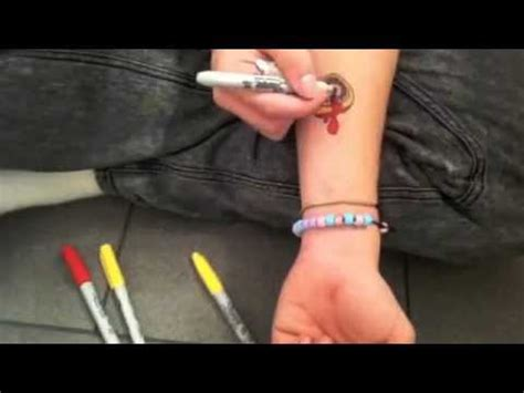 how to make a sharpie tattoo best method youtube