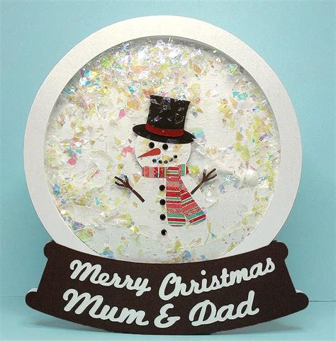 how to make a snow globe card snow cut files
