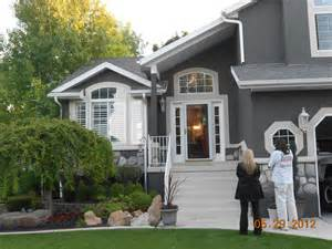 gray stucco home painted by certapro painters of west salt lake looks great