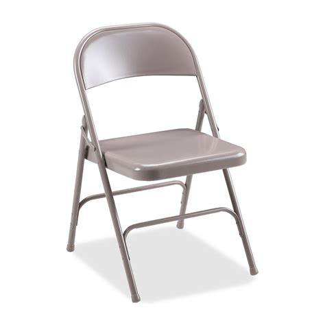 lorell 62500 steel folding chair steel beige seat steel