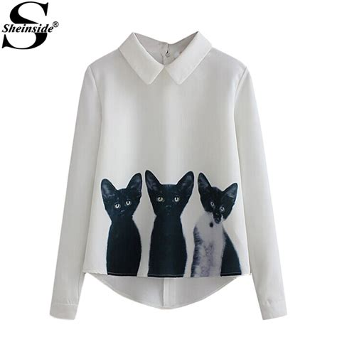 Hoodie Reigns Roffico Cloth sheinside newest 2016 new fashion clothes brand shirts office work wear white lapel