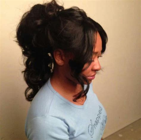 sew in ponytail with bangs sew in with bangs ponytail sew in that s in a high