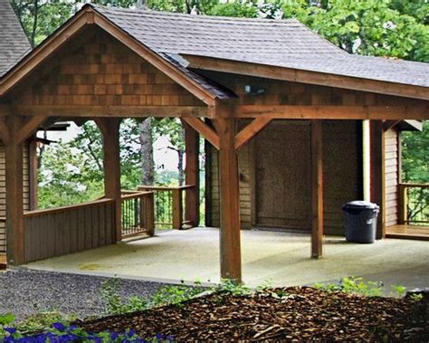 traditional garage  shed traditional carports design