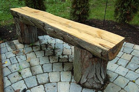 homemade log bench how to build your own rustic wood benches henning house
