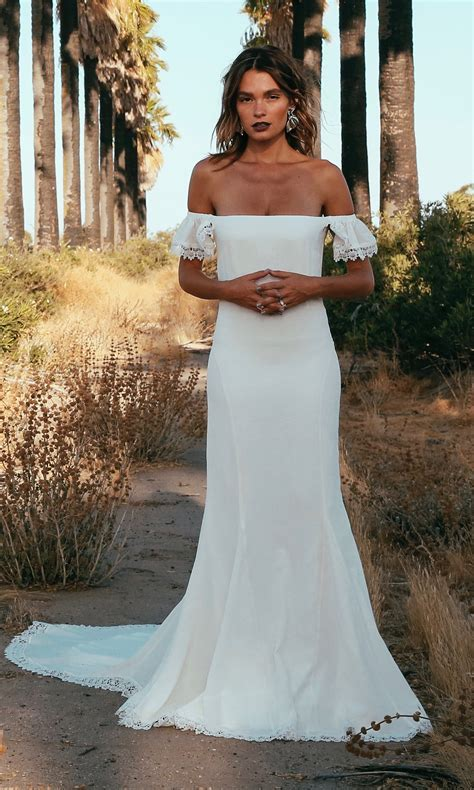 KEMP   Silk Off The Shoulder Wedding Dress   Indie Wedding