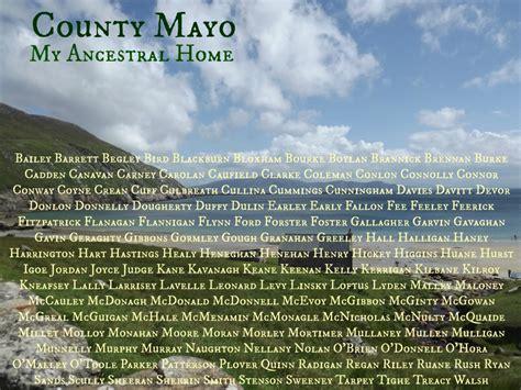 patrick duffy sligo the surnames of county mayo a letter from ireland