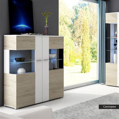 vetrina moderna per soggiorno vetrina moderna con led cassiopea mobile rovere bianco