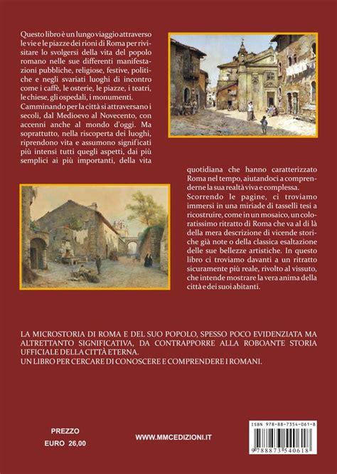 librerie religiose roma libri su roma microstoria della roma dei rioni