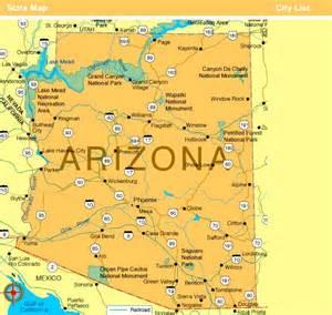 yuma arizona map state arizona