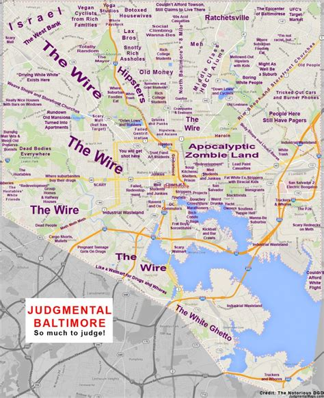 washington dc judgemental map the judgmental baltimore map baltimore or less