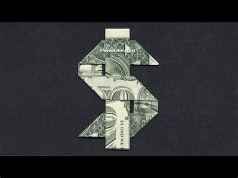 money origami dollar sign