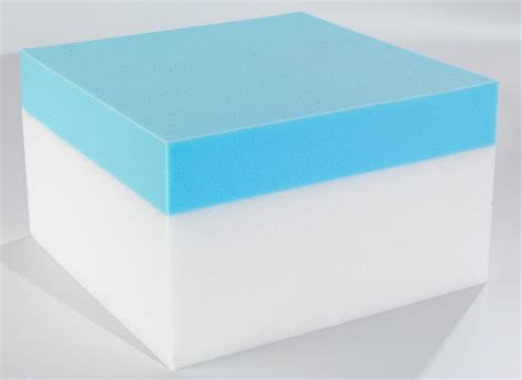 Custom Memory Foam Mattress by Custom Size Rectangular Coolblue Memory Foam Mattress