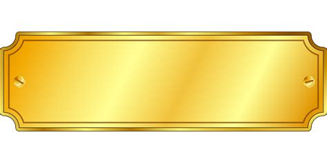 Gold Png Transparent Images Png All Plaque Template Photoshop