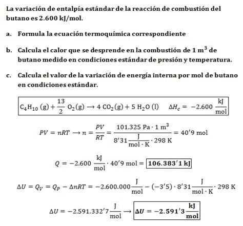el resultado resumen de los clculos de la tabla entalp 237 a lidia con la qu 237 mica