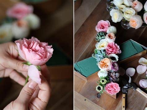 diy on fleurie des lettres pour d 233 corer mariage