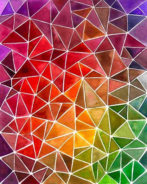 Triangle Pattern Art | best 25 triangle art ideas on pinterest triangle